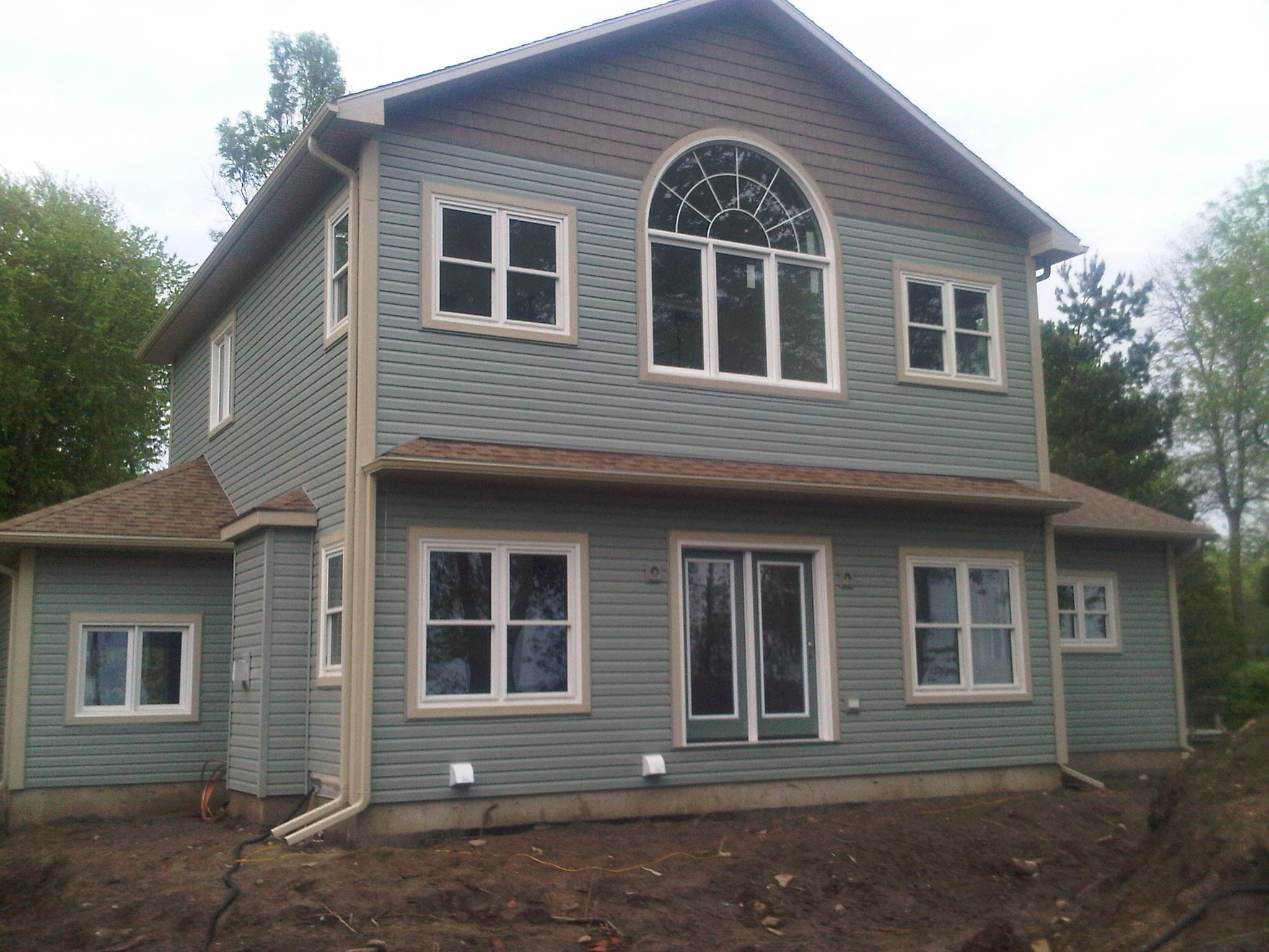 new siding on two-storey home